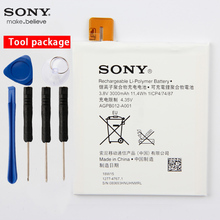 Original Sony High Capacity Phone Battery For Sony Xperia T2 Ultra D5303 D5306 D5322 XM50t XM50h AGPB012-A001 3000mAh lcd module with digitizer touch screen replacement for sony xperia t2 ultra d5303 d5306 xm50h free diy tools