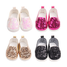 Sequin sports shoes for 18 inch American dolls girl doll toys clothes accessories