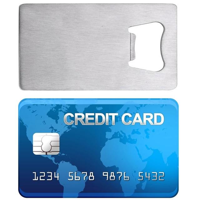 Nouveau 1 Pc En Acier Inoxydable Carte De Credit Portefeuille Decapsuleur Taille Visite Biere