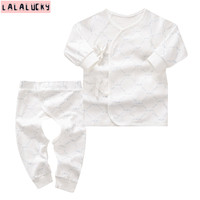 LALALUCKY Newborn Baby Clothes For Boy And Gir Baby S Underwear Sets Long Sleeved Underwears Cotton