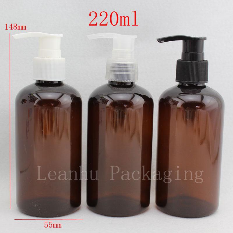 220 ml X 24 lege lotion crème pomp cosmetische flessen, bruine - Huidverzorgingstools
