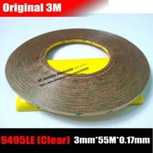 (3mm*55M*0.17mm) 3M 300LSE Super Strong Adhesive Two Sides Clear Sticky Tape for Mobilephone, Tablet, PC LCD Touch Display Panel