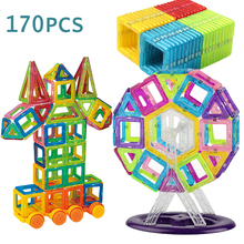 170Pcs Mini Magnetic Blocks Magnetic Toys Designer Model Magnetic Blocks Educational Construction Birthday Christmas Gifts цена в Москве и Питере
