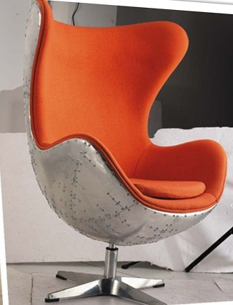 retro living room chairs. Do the old style retro industrial metal aluminum skin palpable living  room chair egg