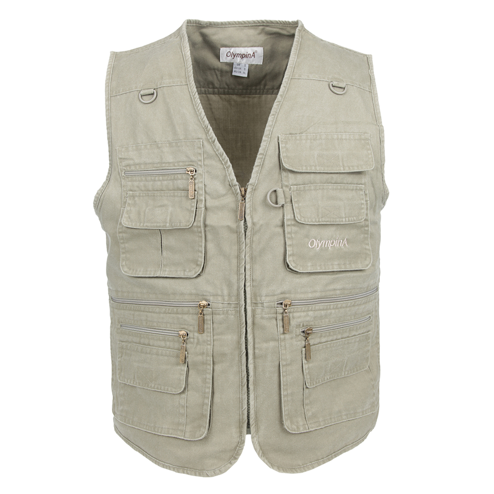 Vest Male With Many Pockets Men Sleeveless Jacket Blue Waistcoat Work Vests Clothes Plus Large Size 10XL