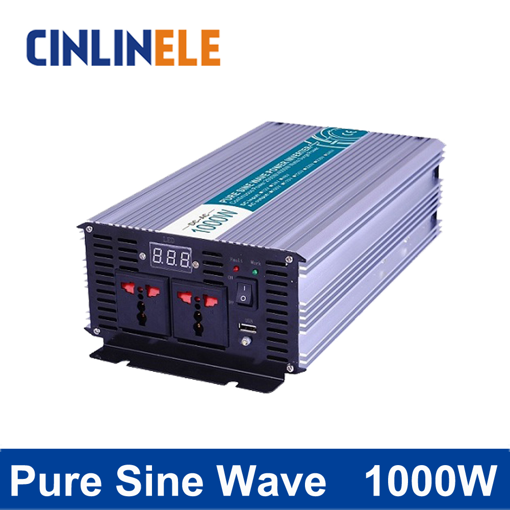 Smart Series Pure Sine Wave Inverter 1000W CLP1000A DC 12V 24V 48V to AC 110V 220V 1000W Surge Power 2000W new lp2k series contactor lp2k06015 lp2k06015md lp2 k06015md 220v dc