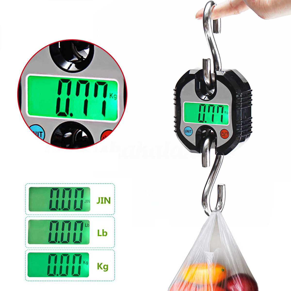 Portable Mini Crane Scale 150kg LCD Digital Weight Electronic Hanging Hook Scales Mayitr 2 0 lcd digital personal body weight scale 150kg 100g 2 x aaa