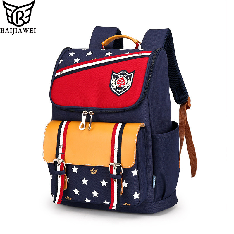 BAIJIAWEI Brand Children font b Backpacks b font Primary Students font b Backpack b font Waterproof