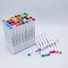 אמנות מרקר סט שמנוני אלכוהול מבוסס סקיצה סמני מברשת עט עבור 30/40/60/80/168 צבעים אמן ציור מנגה אנימציה אספקת אמנות