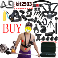 Action Camera Accessories Set For Gopro Hero SJCAM XIAOMI YI 4K 2 Eken H9R H8R Gitup