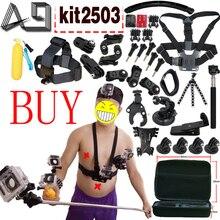 Действий Камеры аксессуары для Gopro Hero SJCAM XIAOMI YI 4 К 2 Eken H9R H8R Gitup Git2 Видеокамера Спорт Действий Cam