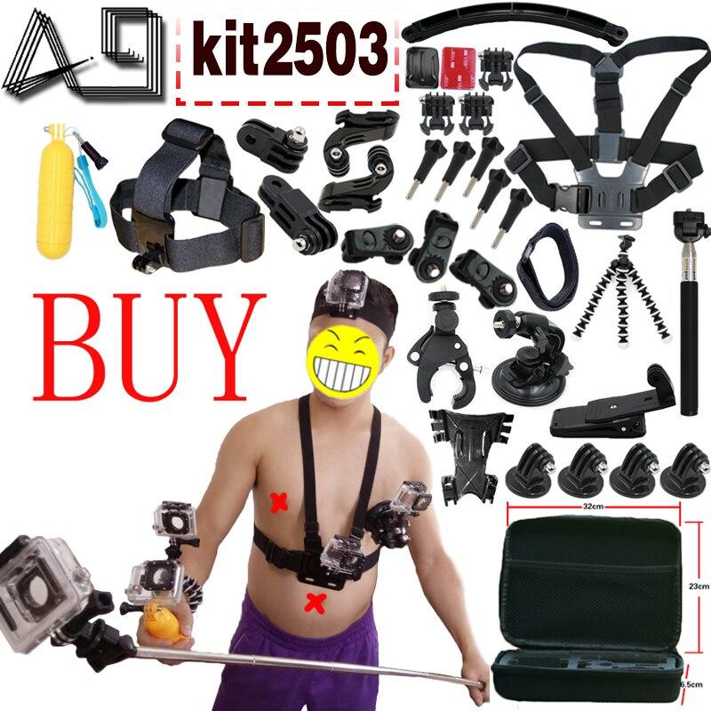 A9 pour caméra d'action accessoires Set pour Gopro Hero SJCAM XIAOMI YI 4 K 2 Eken H9R H8R Gitup Git2 vidéo sport Action Cam