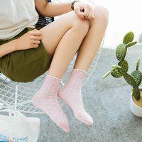 1 pair 2018 New fashion spring summer Women cotton simple dot socks  College Wind funny  Comfortable female socks meias Women Socks