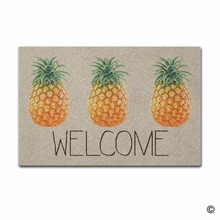 Funny Printed Doormat Entrance Floor Mat Welcome Pineapple Indoor Outdoor Decorative Door Mat Entry Way Mat Machine Washable Non 3d pineapple print door mat