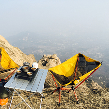 Portable Collapsible Moon Chair Fishing Camping Table Folding Extended Hiking Russia China Stock Light Outdoor Chair Table