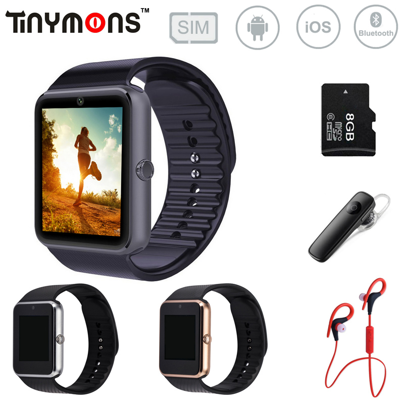 GT08 Bluetooth Smart Watch wearable devices Support SIM TF Card MP3 Smartwatch For apple Android OS phone SMS/call reminder wood