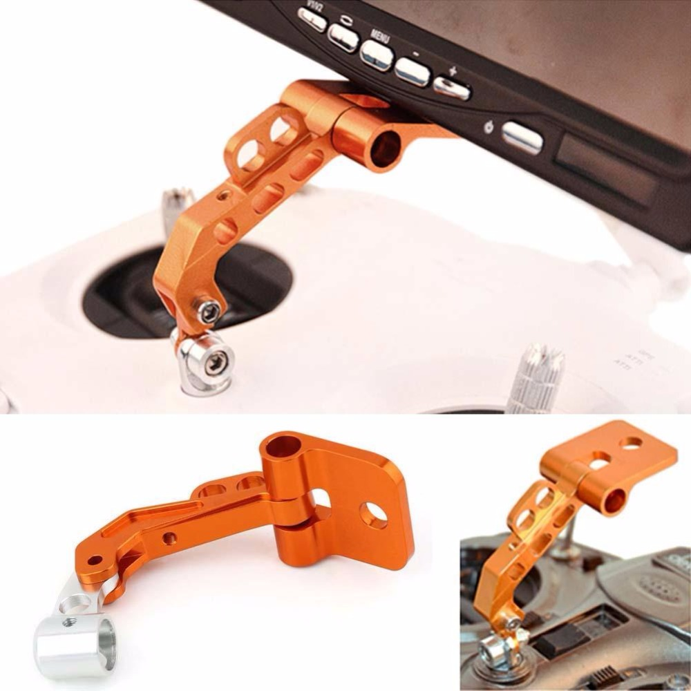 RC Model Aerial CNC Aluminum Alloy FPV Monitor Mount Bracket for Transmitters aluminum alloy fpv monitor mounting bracket for futaba silver orange