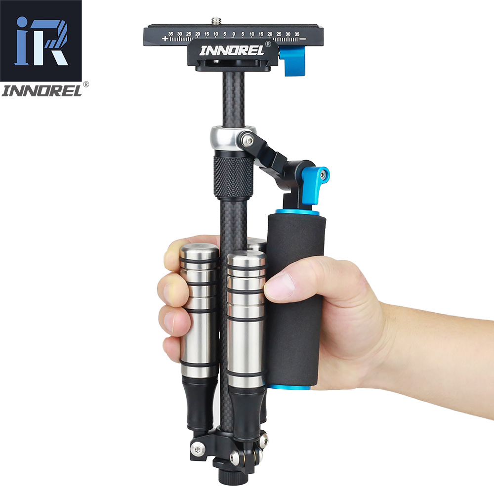 Image 2 - SP mini Handheld Stabilizer Lightweight Carbon Fiber steadicam for DSLR Video Camera DV Light Steady cam high build quality-in Photo Studio Accessories from Consumer Electronics