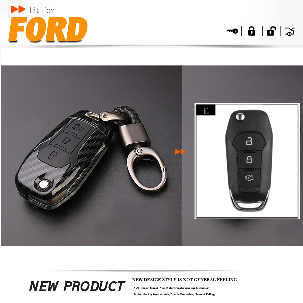 Key Case Protection For Ford Fiesta Mondeo Ecosport Kuga Durable Accessories