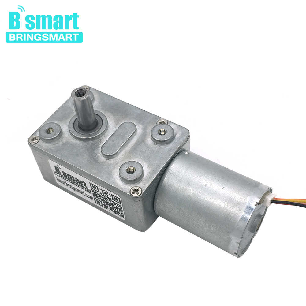 hight resolution of bringsmart jgy 2430 brushless 12 volt dc worm gear motor self lock reversible gearbox
