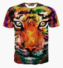 Hot selling New style Animals print T shirt men boy 3d font b tshirt b font