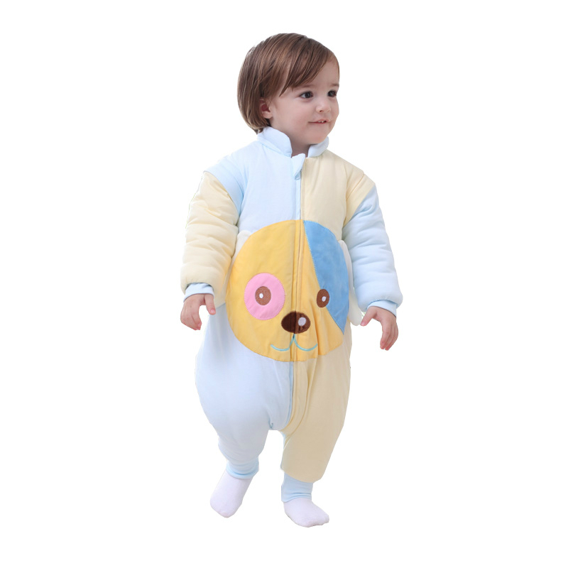 Baby Kicking Preventing Sleeping Bag Newborn Infant Cotton Warm Sleeping Bag Detachable Sleeves Child Straddle Sleep Sack infant baby sleeping bag baby blankets quilt thick natural cotton sleeping bag detachable sleeves newborn swaddling clothes