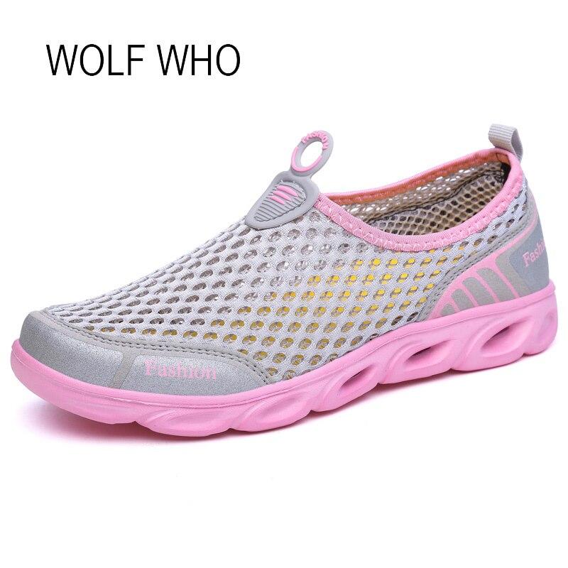 WOLF WHO 2018 Summer Women Sneakers Ladies Shoes Female Beach Footwear Tenis Feminino Casual Basket Femme Slipony Women H-294 wolf who genuine leather women shoes ladies spring krasovki slipony slip on loafers woman tenis feminino casual h 049