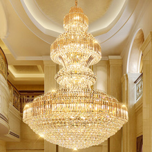 Duplex staircase light LED living room crystal chandeliers villa hotel hall staircase lamp long chandelier Fixture цены