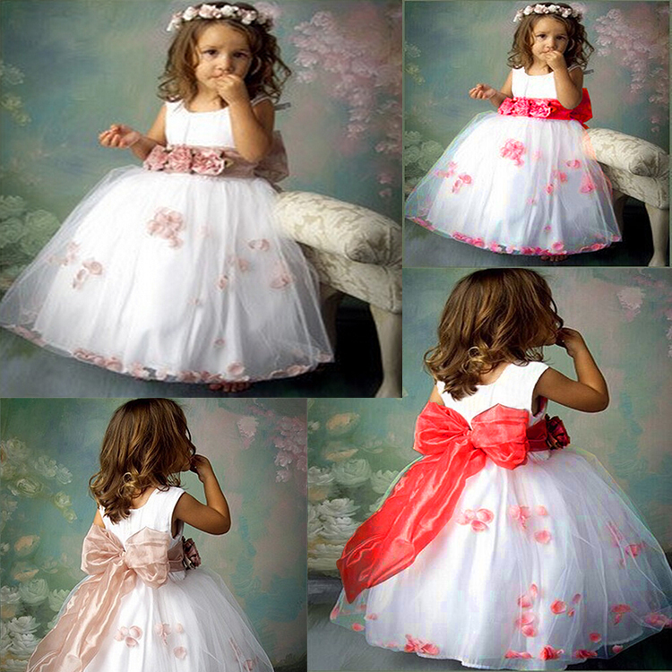 50eb2d3fee 2015 Frock design Neckline gown princess girl birthday party dress baby girl  wedding dress vestido frozen dress for girls-in Flower Girl Dresses from ...