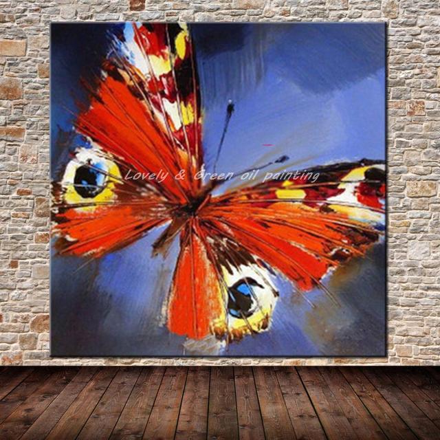 moderne abstrakte kunst bilder handgemalte tier schmetterling lgemlde auf leinwand wandkunst bild fr wohnzimmer wand - Moderne Bder