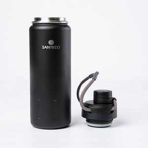 Image 3 - Santeco 710ml Thermos Bottle With Rope Double Wall Stainless Steel Coffee Tea Milk Outdoor Gift Vacuum Bottle