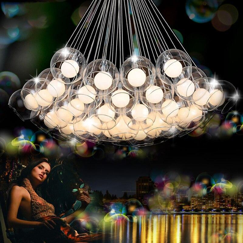 Moderne Led verre pendentif lumières pour salle à manger salon bar AC90-260V G4 ampoule suspendus verre pendentif luminaires livraison gratuite