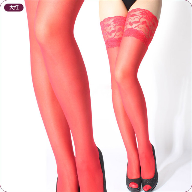 2018 new Women's stockings Girls Female sexy stocking hose appeal to fix the leg show thin lace sexy stockings hose for women