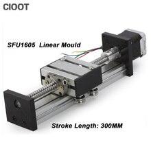 SFU1605 линейной направляющей 16 Линейный Рельс ЧПУ 300 мм линейный этап Линейный Направляющая nema23 шаговый двигатель