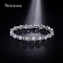 NEWBARK High Quality Silver Color AAA Cubic Zirconia Fashion Charm Shiny Austria Rhinestones Bracelets Women Accessories