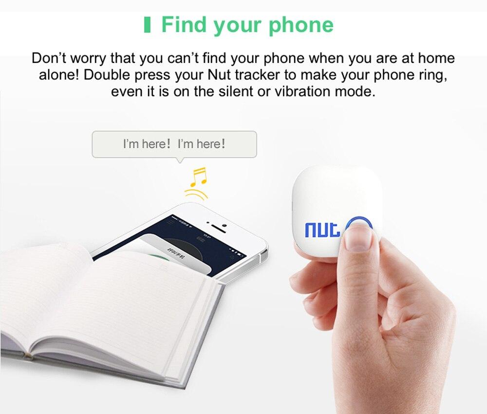 Nut 2 F5D Finder Mini Bluetooth Tracker Anti Lost Reminder for Pet Wallet