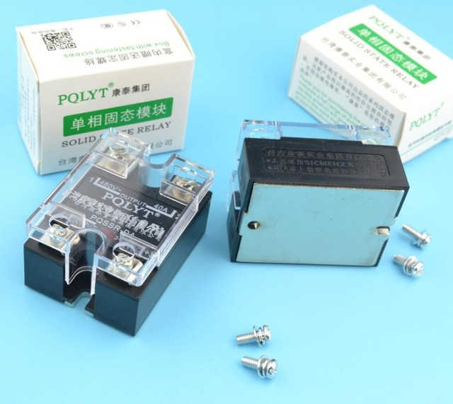 PQLYT 100% QUALITY actually max. 40A SSR input 3-32VDC output 24-480VAC solid state relay