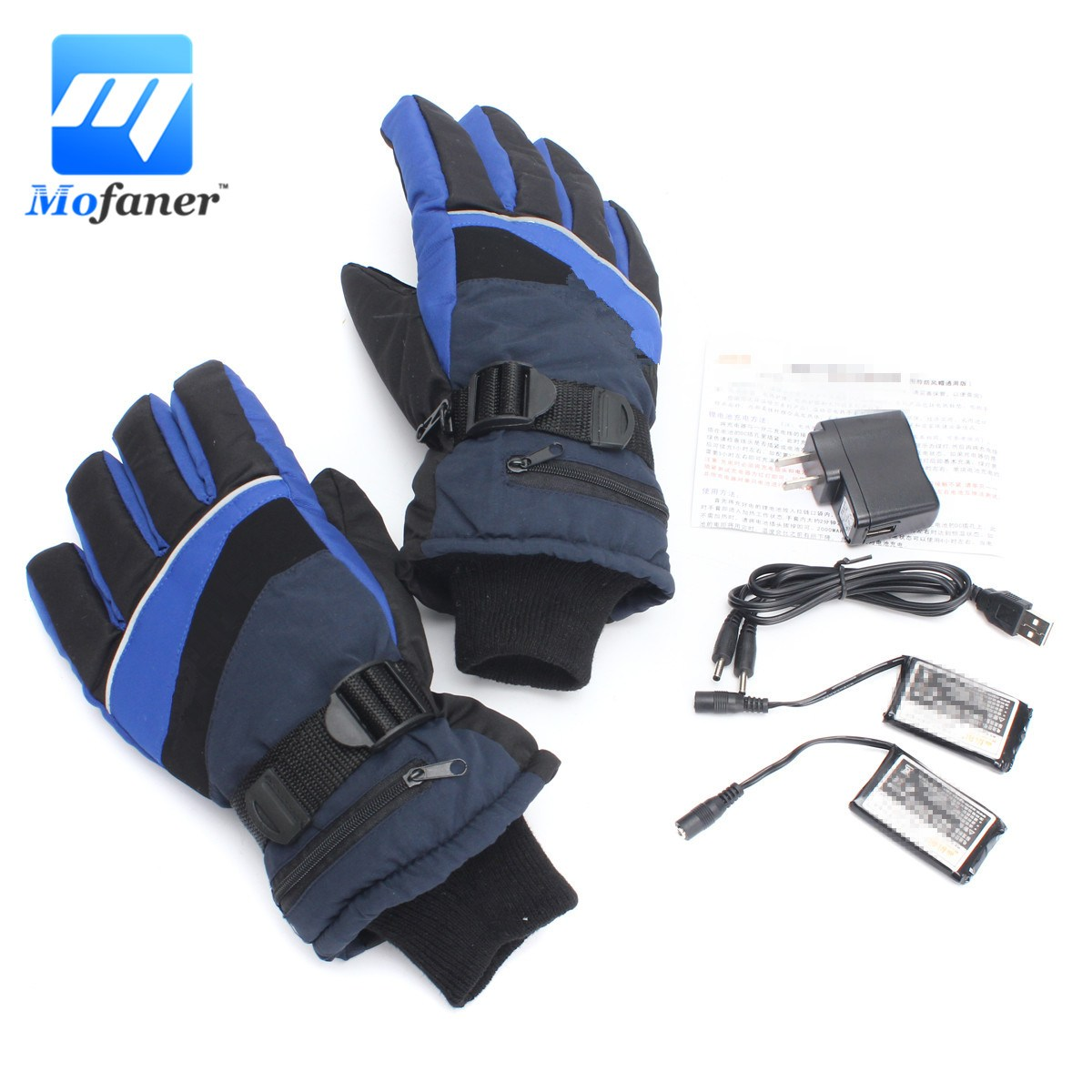 Mofaner Waterproof Motorcycle Outdoor Electric Heated Gloves Snowboarding Work Winter Gloves Hands Warmer Rechargeable Battery L 1 pair 4000mah rechargeable battery with smart switch on off electric heated warm glove winter outdoor work ski warmer gloves