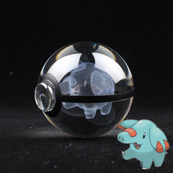 PHANPHY Design Crystal Poke Ball 3D Pokemon Figures Kid's Birthday Graduation Gifts