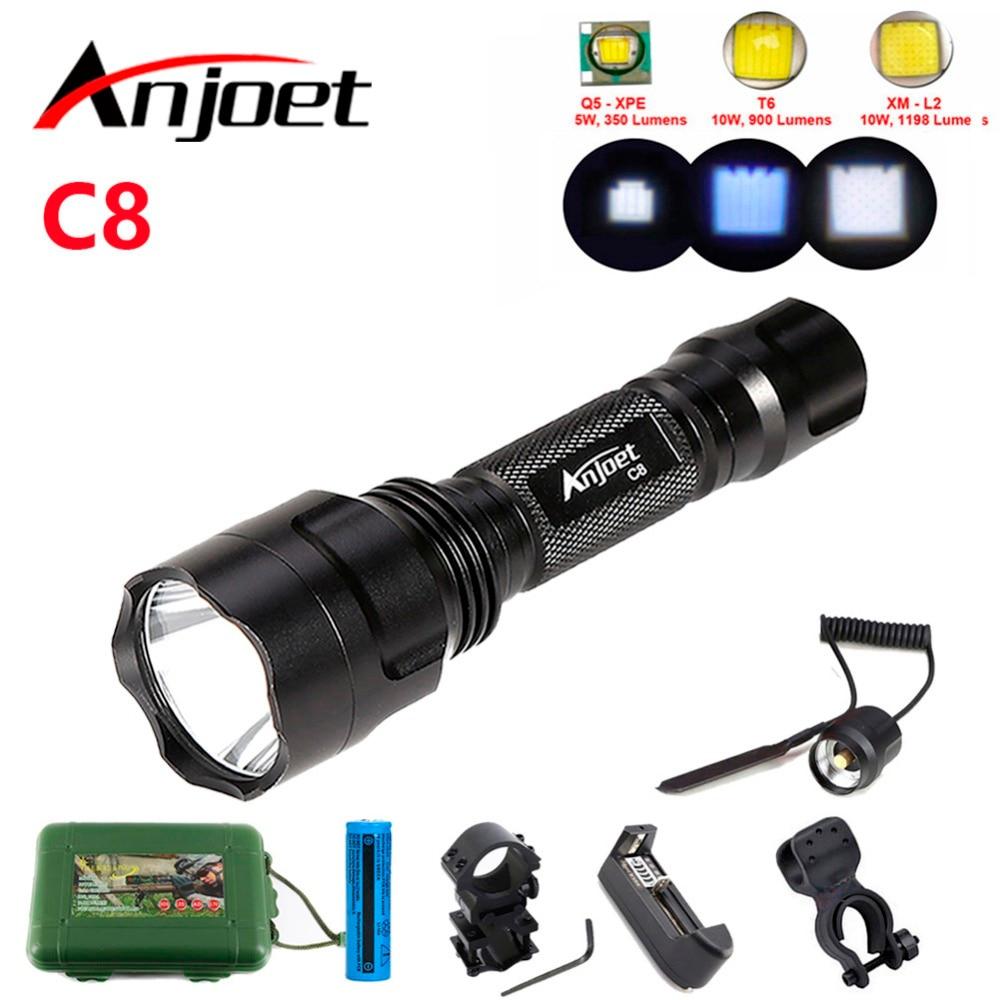 kit tactical flashlight CREE XML T6 Q5 Ls