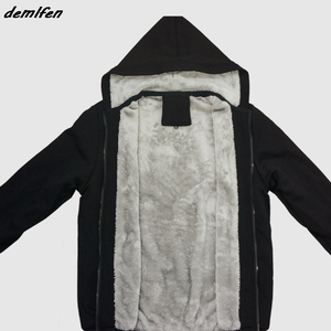 Image 5 - ברד שטן 666 אפומט פנטגרם השטן ויקה שחור קסם הדפסת הסווטשרט גברים עבה רוכסן סווטשירט היפ הופ מעיל חולצות
