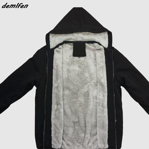 Image 5 - Hail Satan 666 Baphomet Pentagram Devil Wicca Black Magic Print Hoodie Men Thick Zipper Sweatshirt Hip Hop Jacket Tops