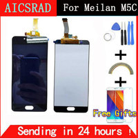 QYQYJOY New LCD Display Replacement Touch Screen Digitizer For Meizu M5C Meilan 5C Black White Color