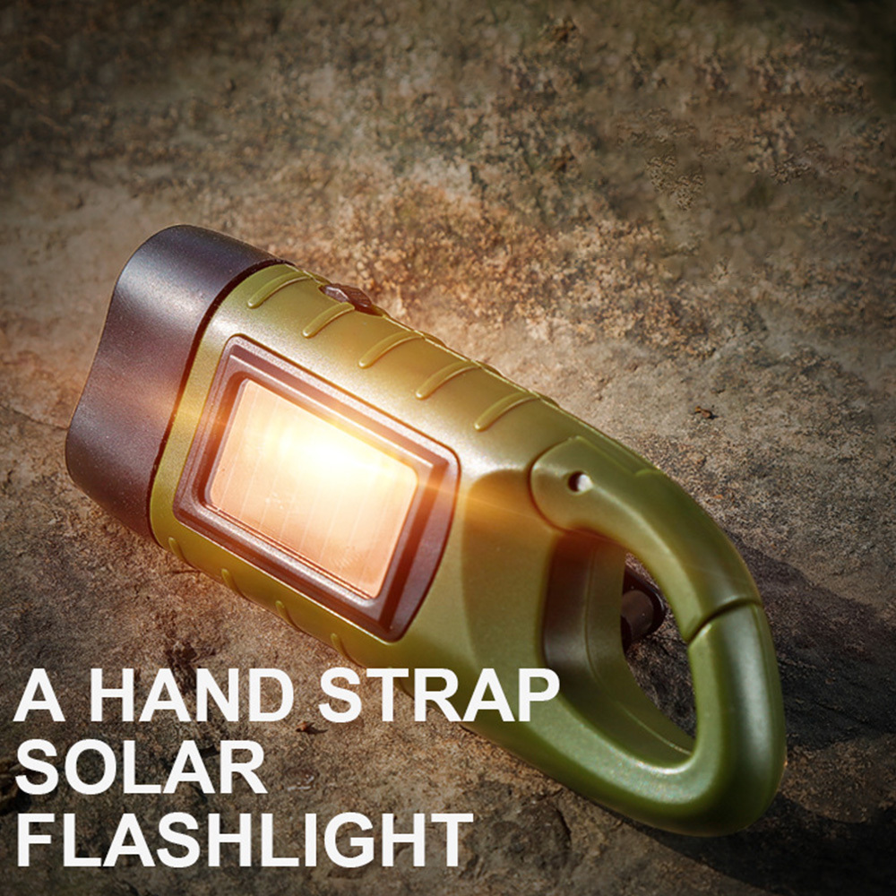 Rechargeable Mini Emergency Hand Crank Dynamo Solar Flashlight Led Light Lamp Charging Powerful Torch For Outdoor Camping in LED Flashlights from Lights Lighting