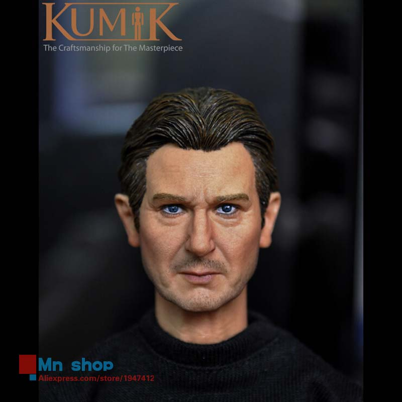 ФОТО 1/6 head sculpt male figure doll middle-aged head carving 1/6 action figure accessories collection gift kumik15-4