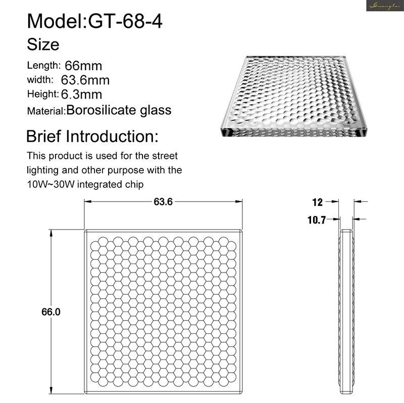 Verre optique oeil de mouche projecteur bricolage lumière Fresnel lentille phare 66x63.6