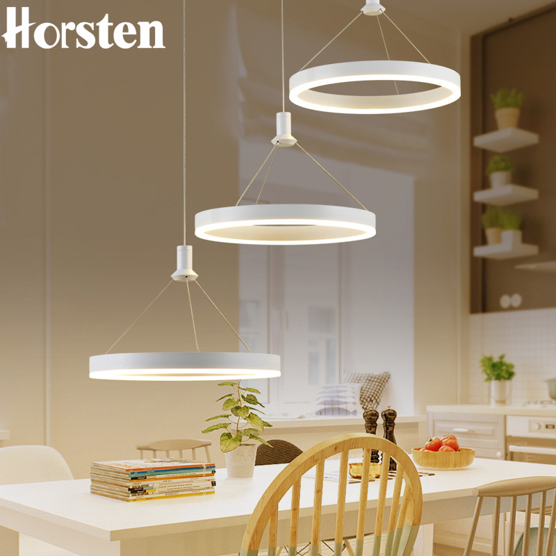 Horsten Modern Simple LED Pendant Lamps Dining Pendant Lights Aluminum Acrylic Ring Hanging Lamp Restaurant Home Lighting 220V horsten modern simple led pendant lamps dining pendant lights aluminum acrylic ring hanging lamp restaurant home lighting 220v