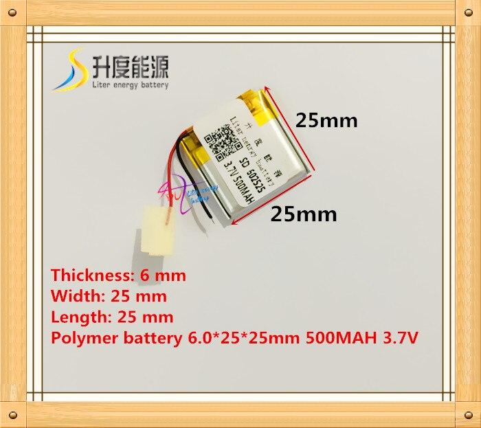 Stromquelle Aufstrebend 602525 062525 3,7 V 500 Mah Lithium-polymer-batterie Mit Schutz Bord Für Mp3 Mp4 Gps Digitale Produkte Kostenloser Versand
