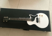 Factory shop Top quality white color Flat top custom LP electric guitar with best hardware,New arrival LP guitar,Free Shipping