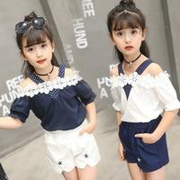 2017 Summer New Pattern Korean Children S Garment Girl Strapless Sleeve Camisole T Shorts Child 2